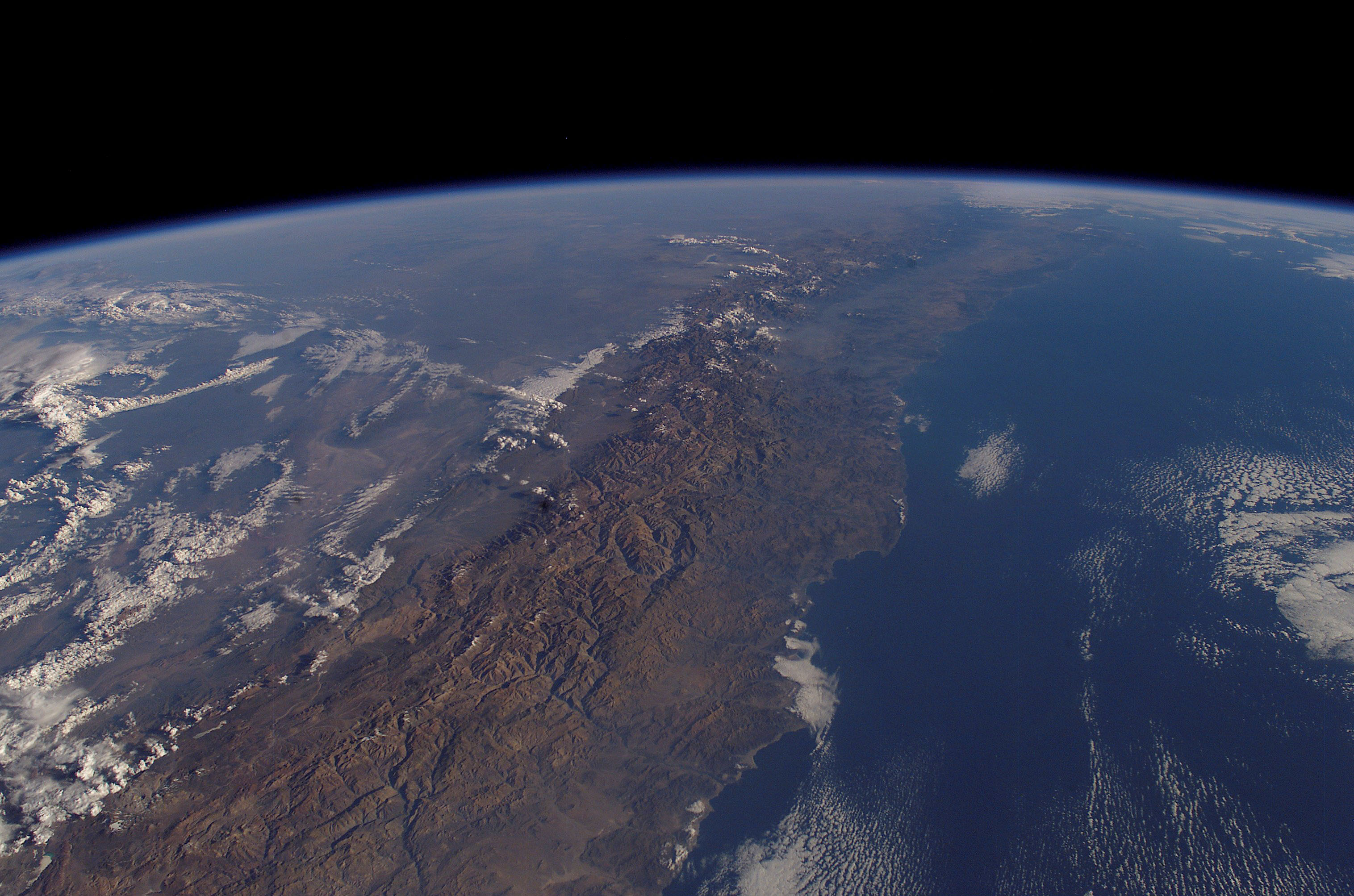 Coast And Andes Mountains Chile