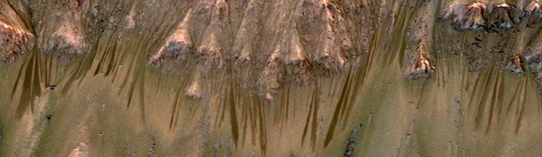 Water Flowing on Mars