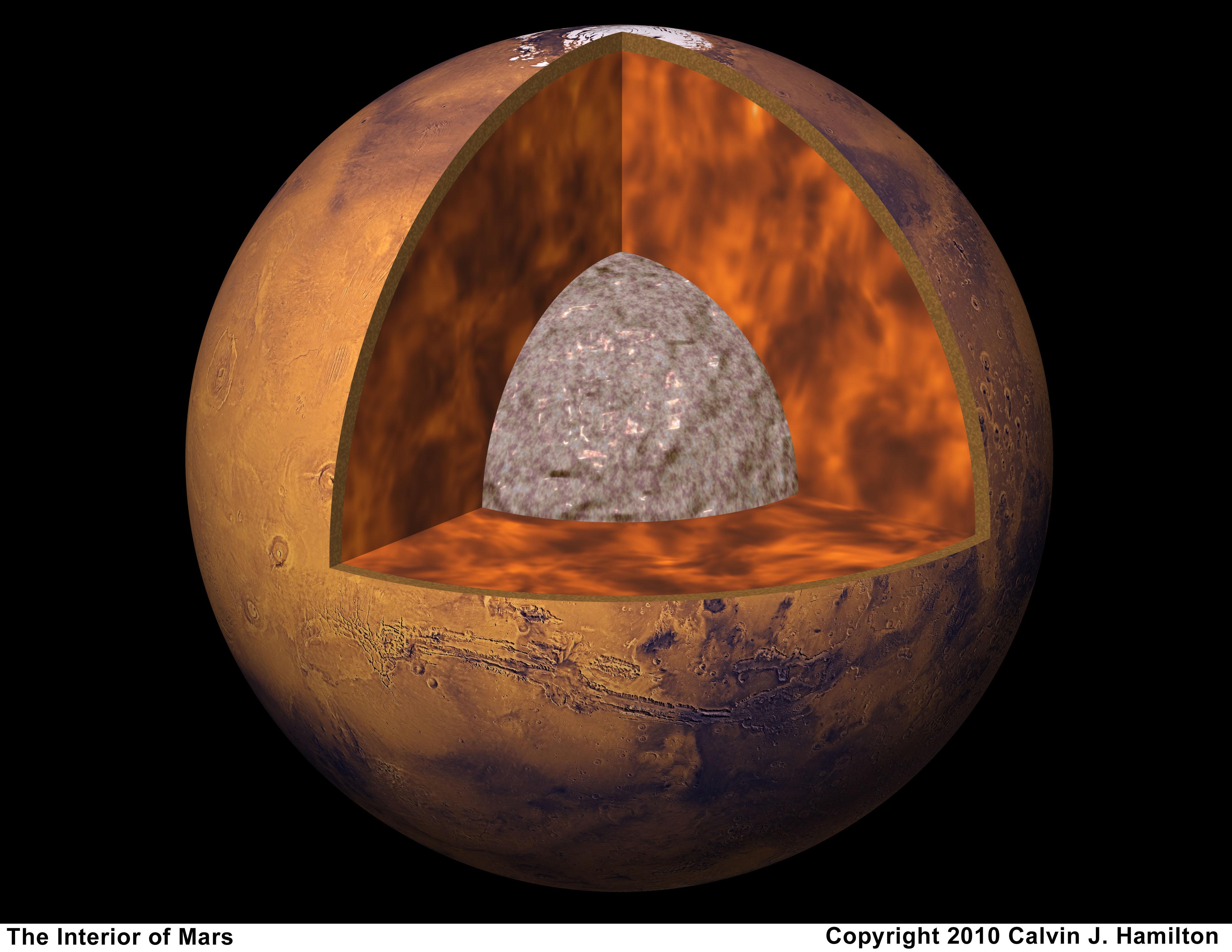 planet mars core crust mantel-#main