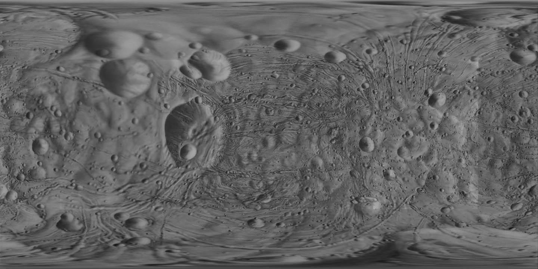 Cylindrical Map of Phobos - USGS