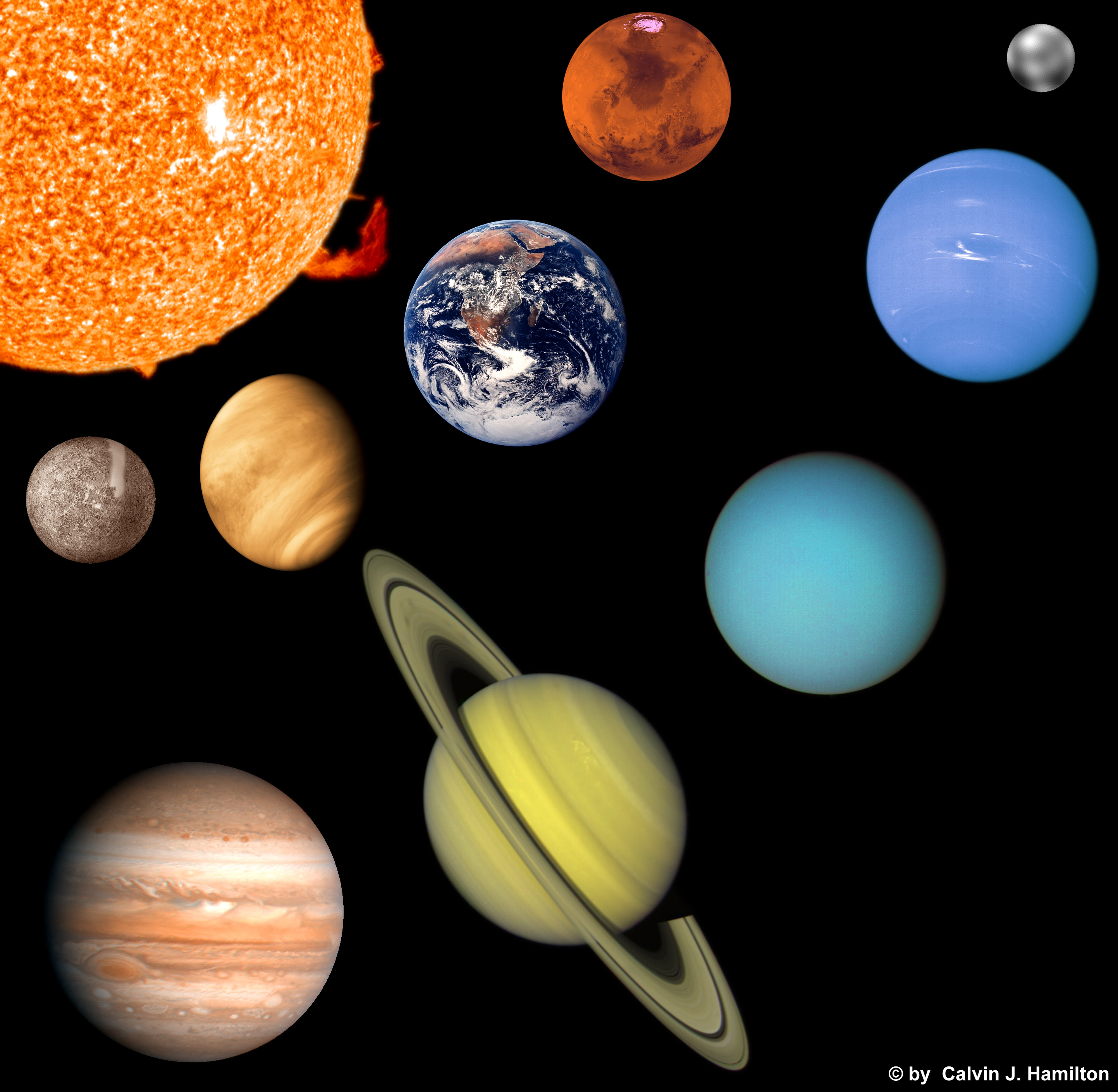 photo relating to Printable Planets to Scale called Photos of Planets Toward Scale Printable - #SpaceHero