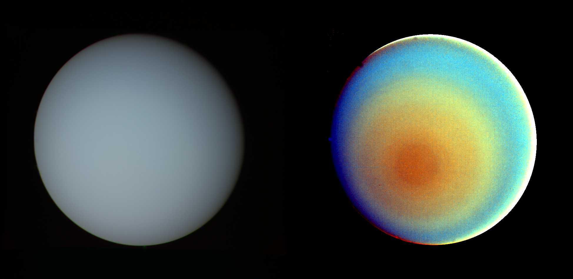 Uranus in True and False Color