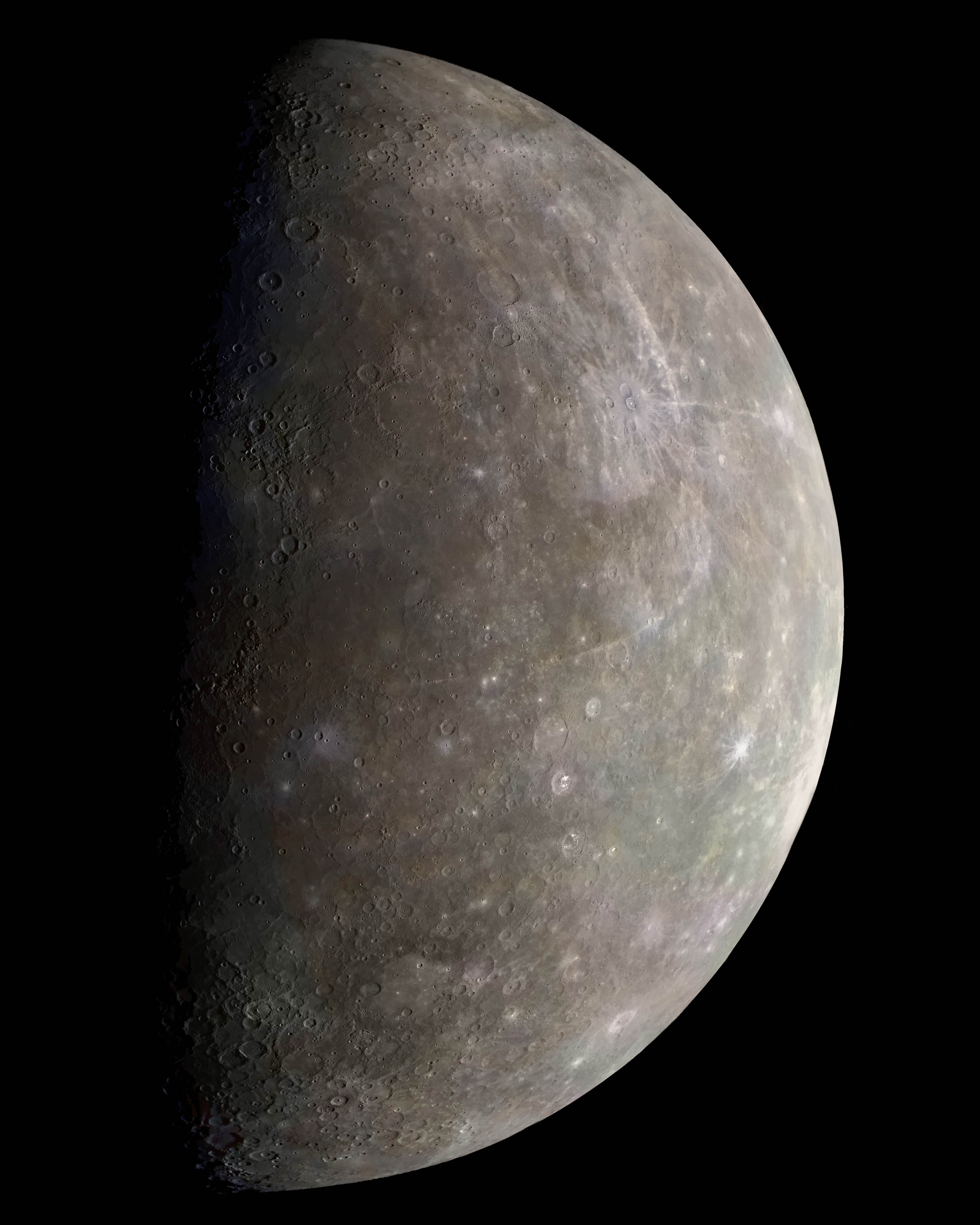 Mariner 10 Outgoing Color Image of Mercury