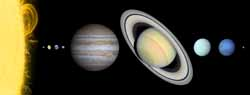 'Sun and the Planets' from the web at 'http://solarviews.com/eng/../thumb/misc/solarsystem.jpg'