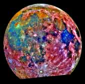 Moon in False Color