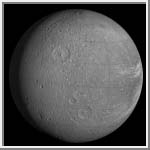 Orthographic Projection of Dione