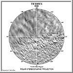 Tethys North Polar Map