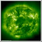 'SOHO's View of the Sun' from the web at 'http://solarviews.com/eng/../thumb/sun/eitmay99.jpg'